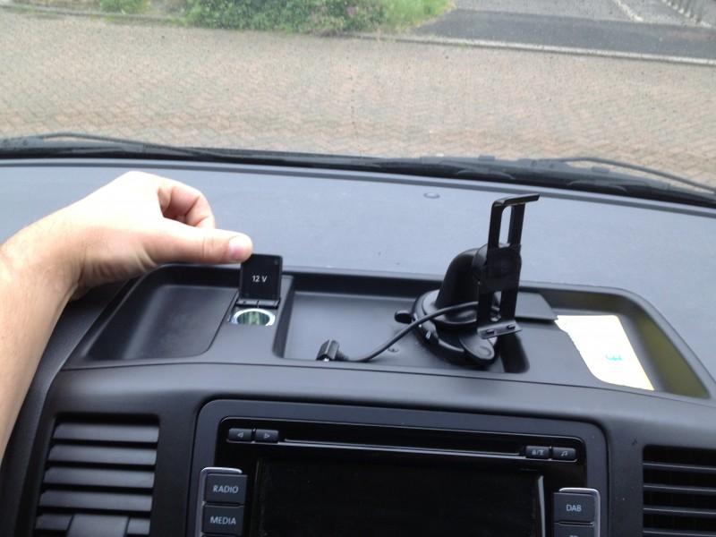 VW T5 California Dash power socket | Jamie Austen